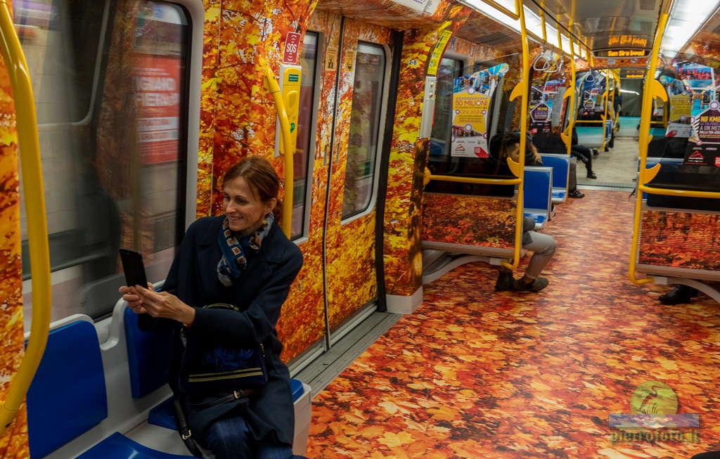 La metropolitana colorata Lilla di Milano