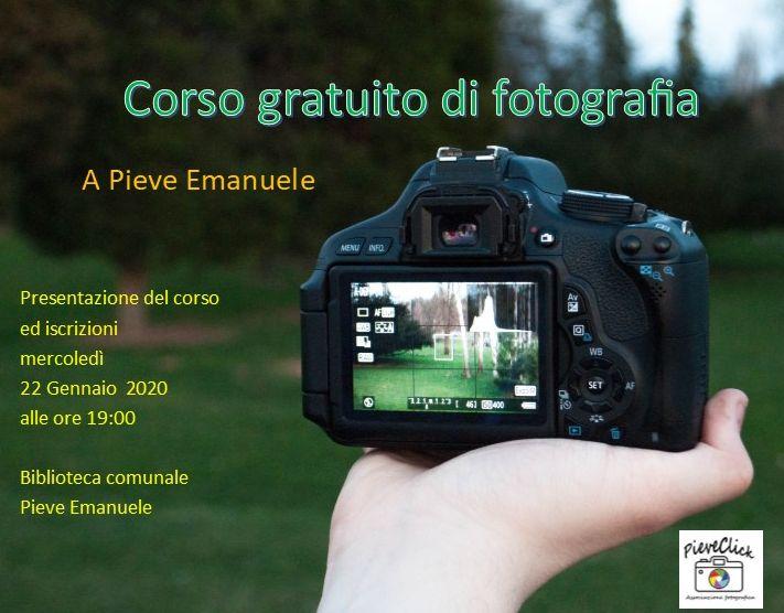 Corso gratuito di fotografia a Pieve Emanuele