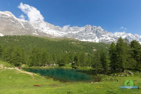 blue lake val aosta
