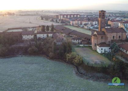 Fotografie di Pieve Emanuele dall'alto scattate con il drone mavic mini