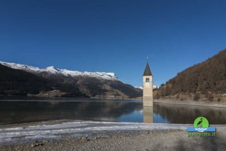 Submerged bell tower of Resia
