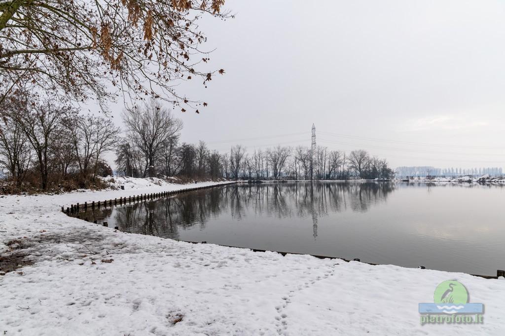 Nevicata all'oasi di Tolcinasco