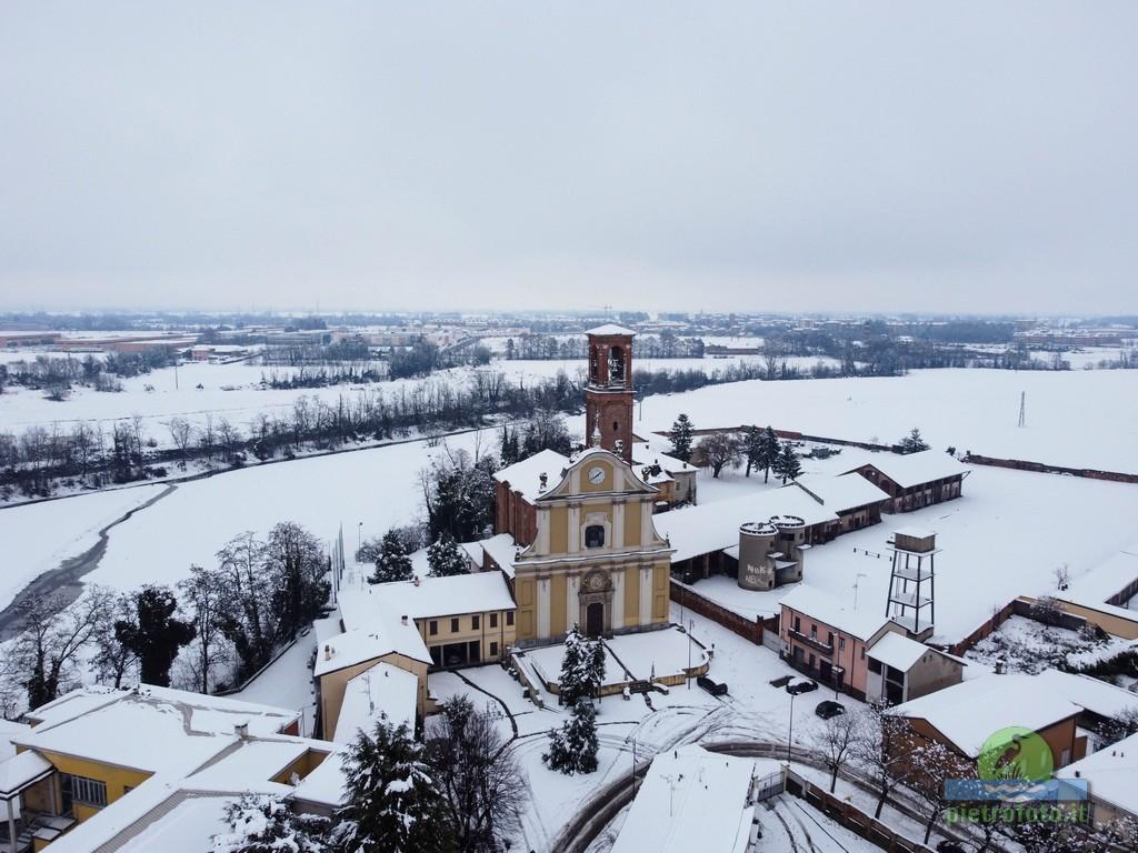Nevicata a Pieve Emanuele