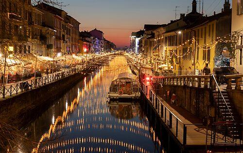 Christmas in Milan Naviglio grande