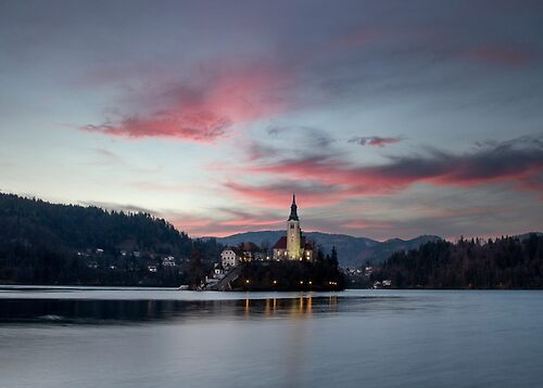 Sunset on Bled