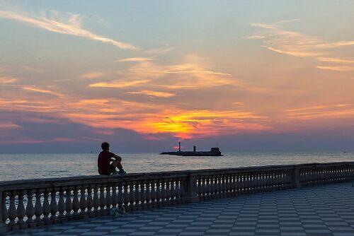Sunset in Livorno