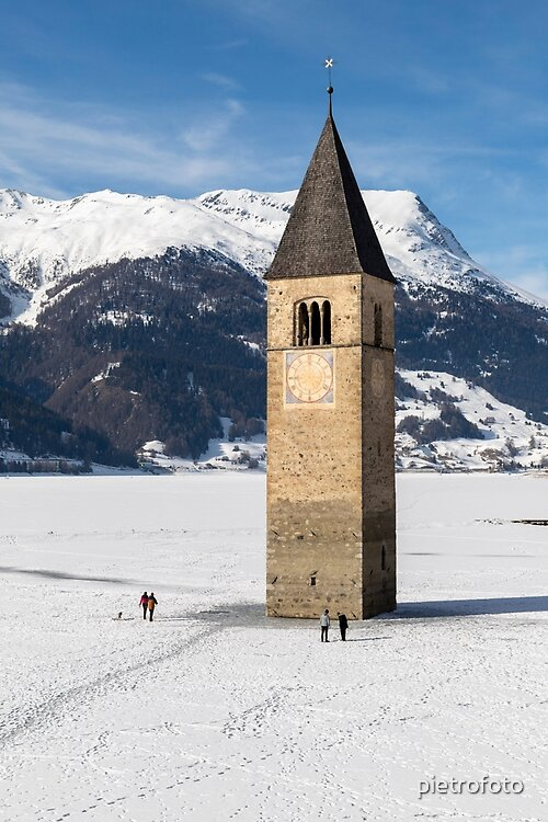 The submerged bell tower of Resia